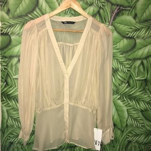 Zara Limited Edition Sheer Blouse
